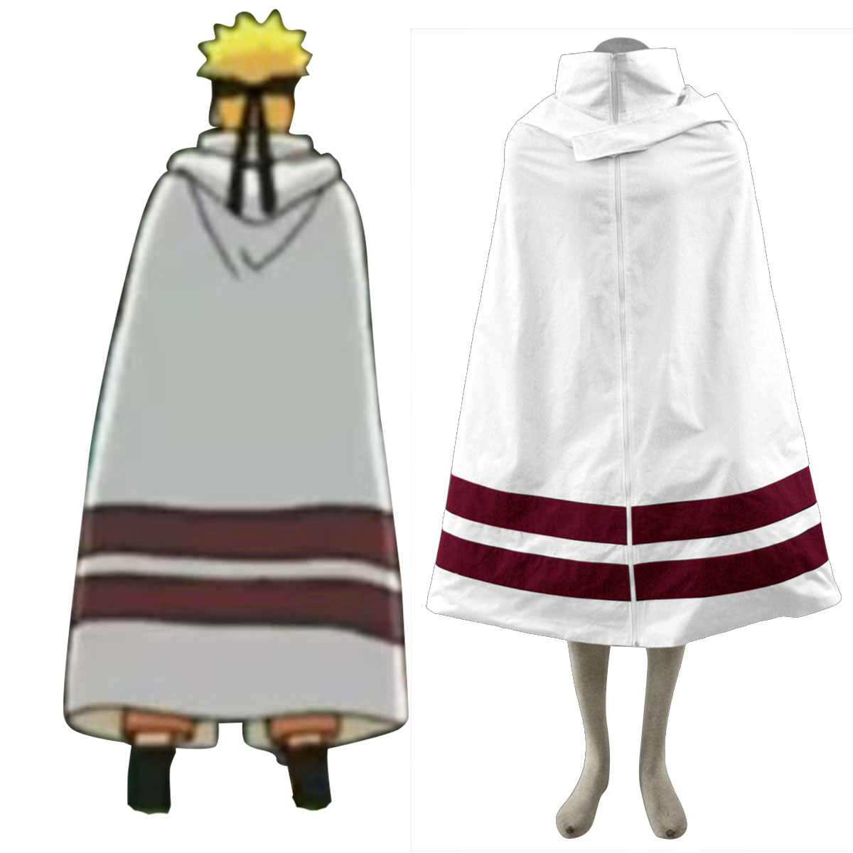 Naruto Shippuden Konoha Cloak 1 Anime Cosplay Costumes Outfit