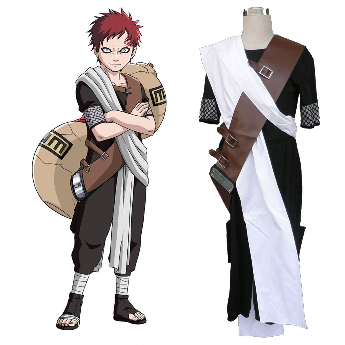 Naruto Gaara 1 Anime Cosplay Costumes Outfit