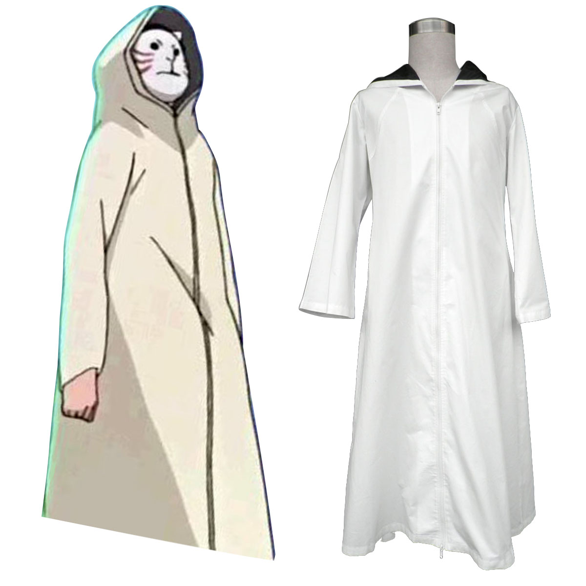 Naruto ANBU Cloak 1 Anime Cosplay Costumes Outfit