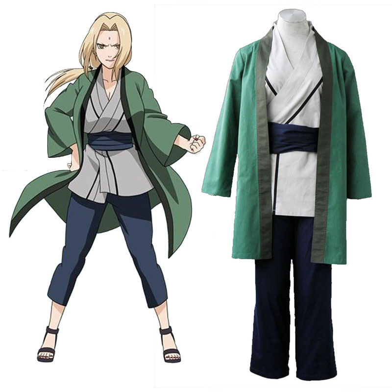 Naruto Tsunade 1 Anime Cosplay Costumes Outfit