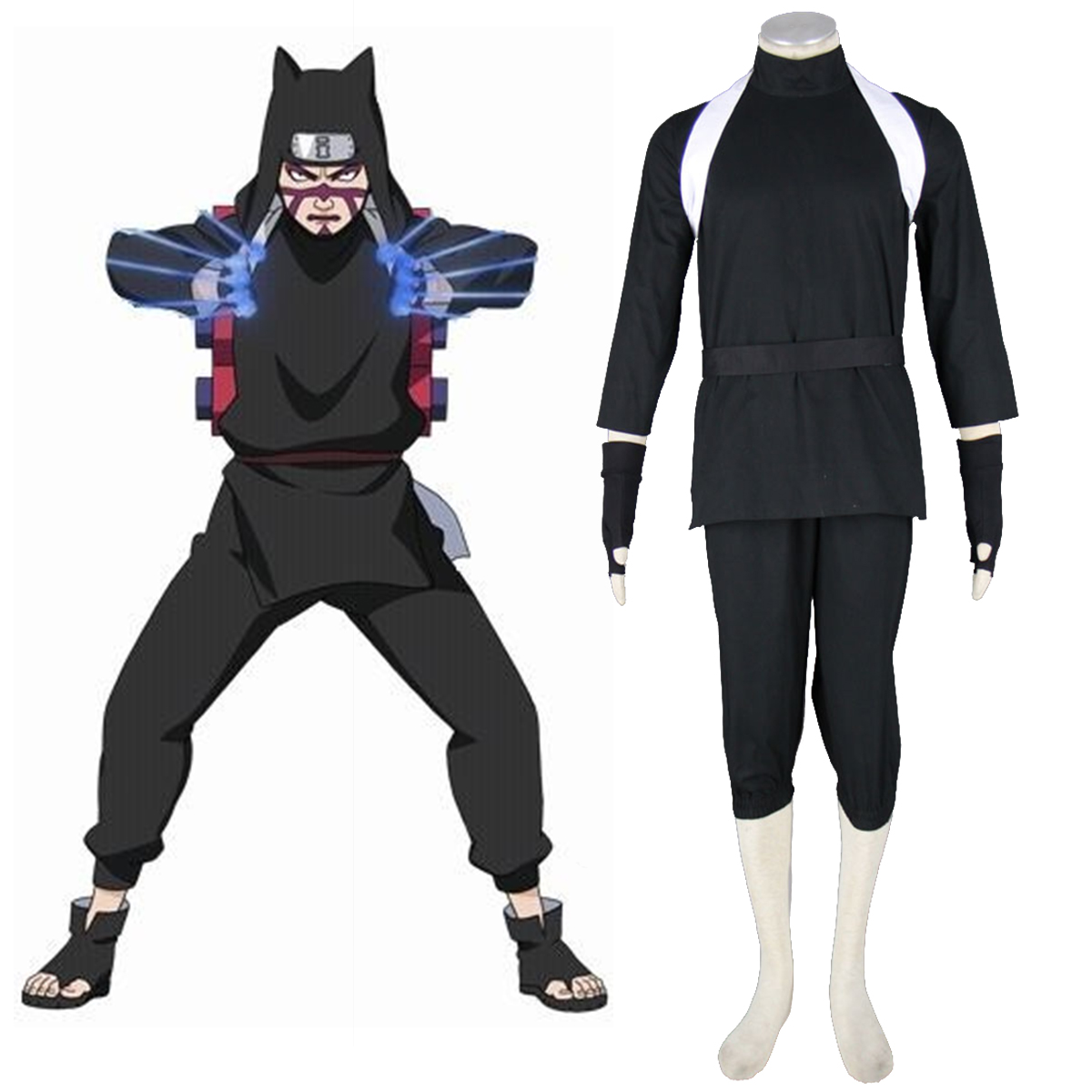 Naruto Shippuden Kankuro 2 Anime Cosplay Costumes Outfit