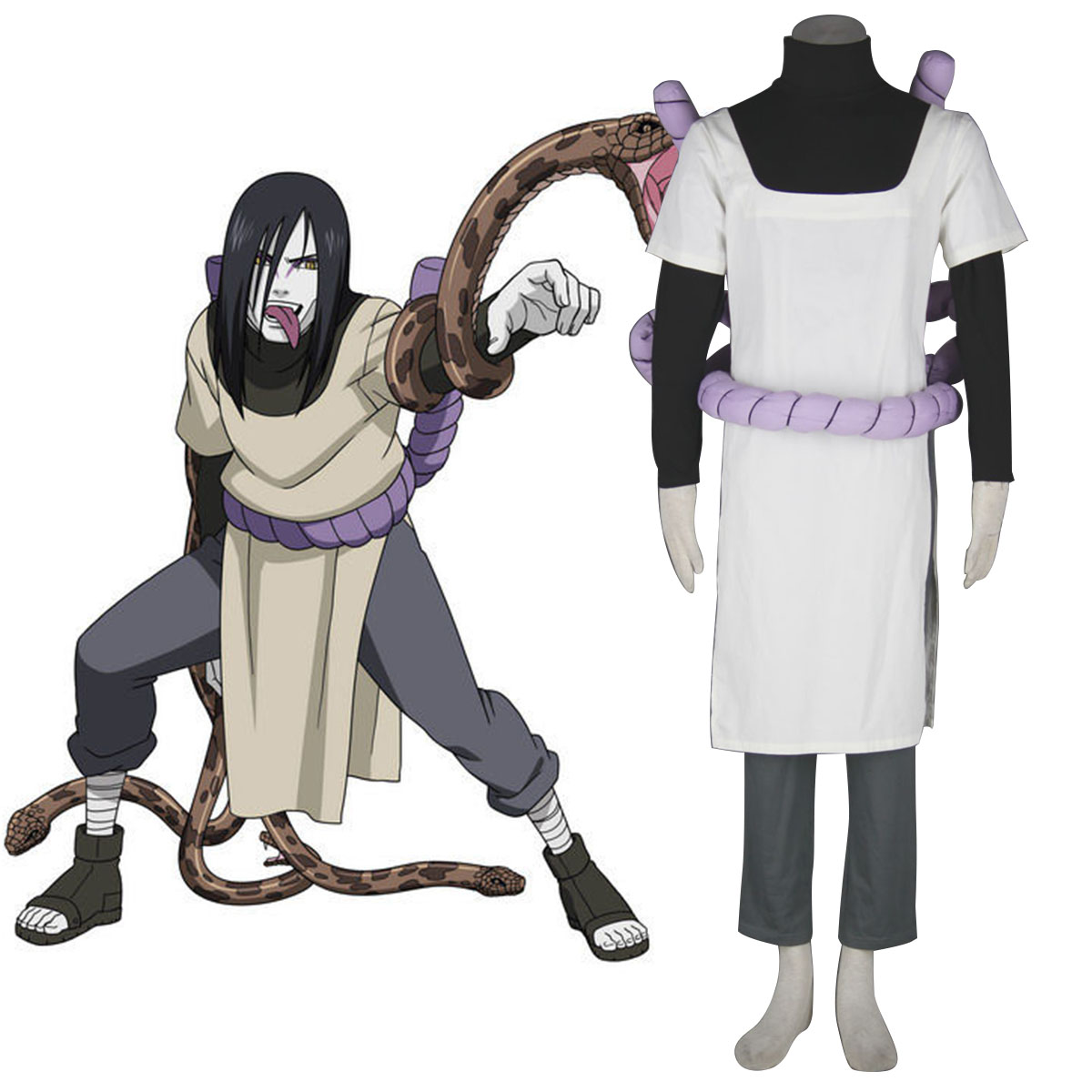 Naruto Orochimaru 1 Anime Cosplay Costumes Outfit