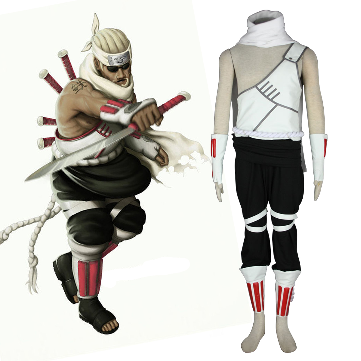 Naruto Killer B 1 Anime Cosplay Costumes Outfit