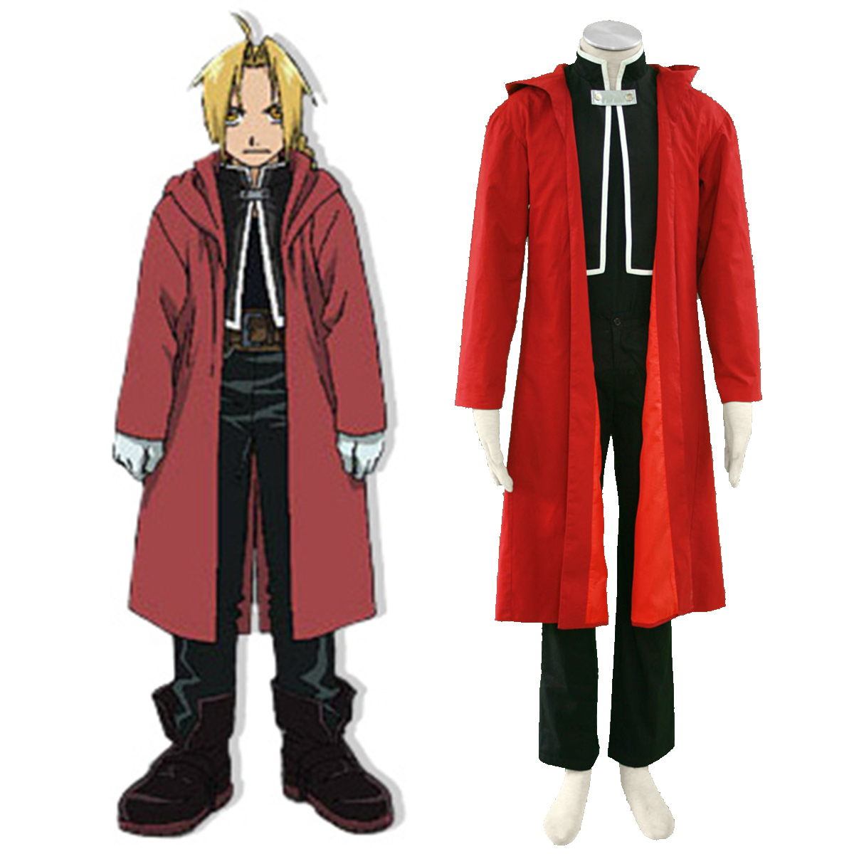 Fullmetal Alchemist Edward Elric 1 Anime Cosplay Costumes Outfit