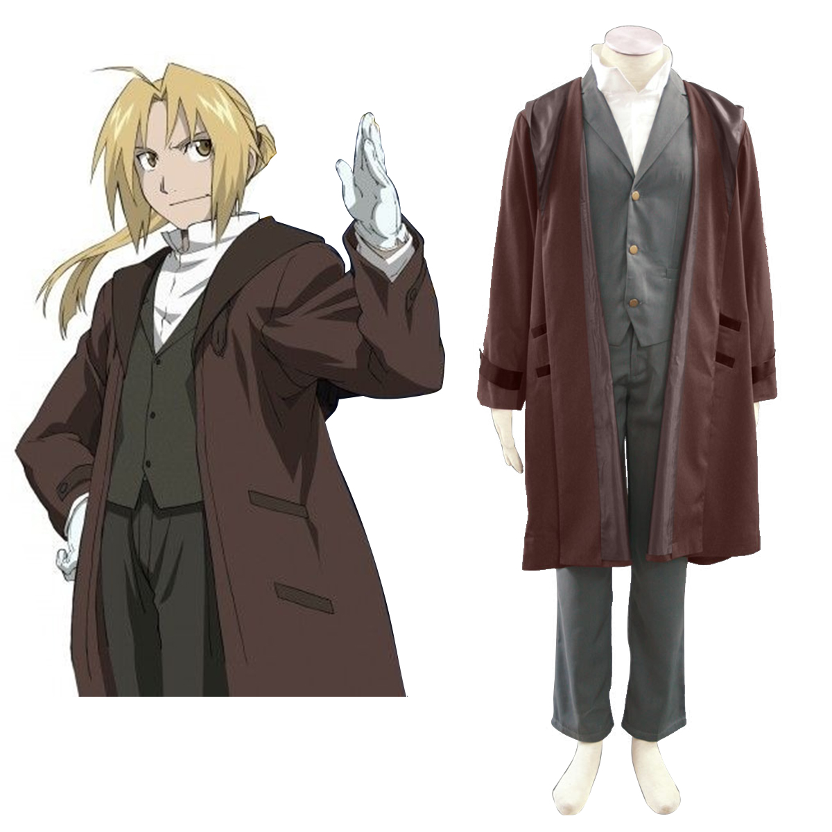 Fullmetal Alchemist Edward Elric 2 Anime Cosplay Costumes Outfit