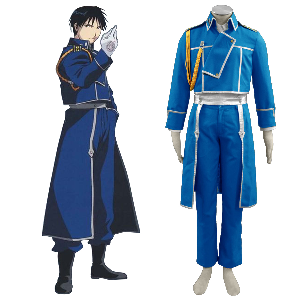 Fullmetal Alchemist Roy Mustang 1 Anime Cosplay Costumes Outfit