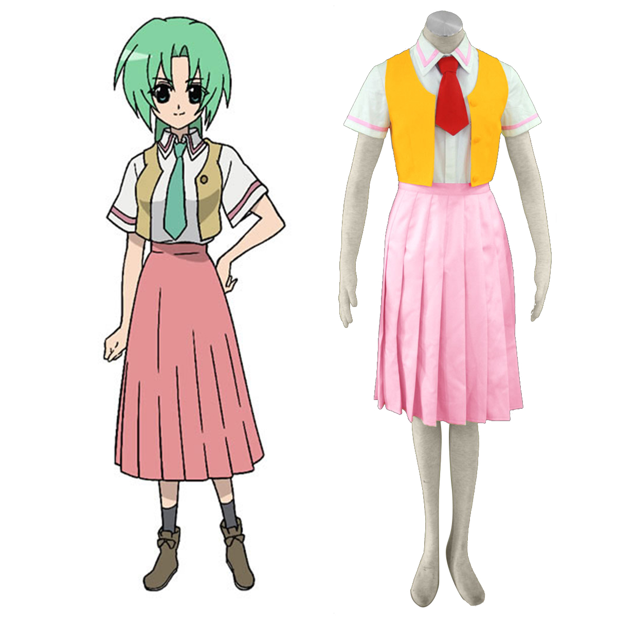 Higurashi When They Cry Sonozaki Mion 1 Anime Cosplay Costumes Outfit