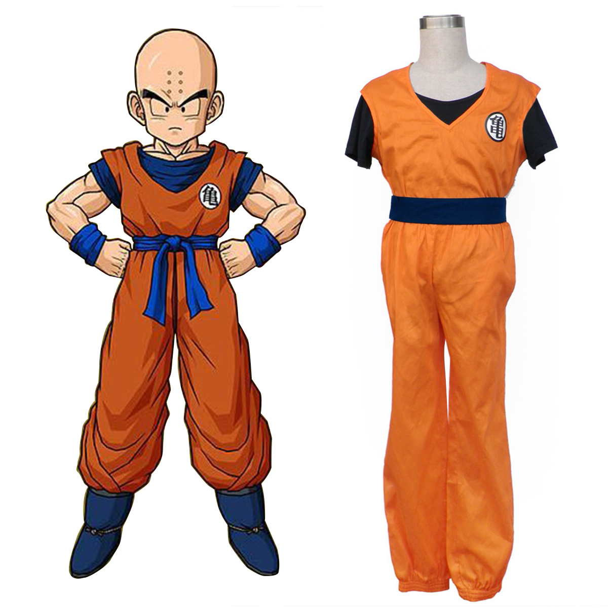 Dragon Ball Krillin Anime Cosplay Costumes Outfit