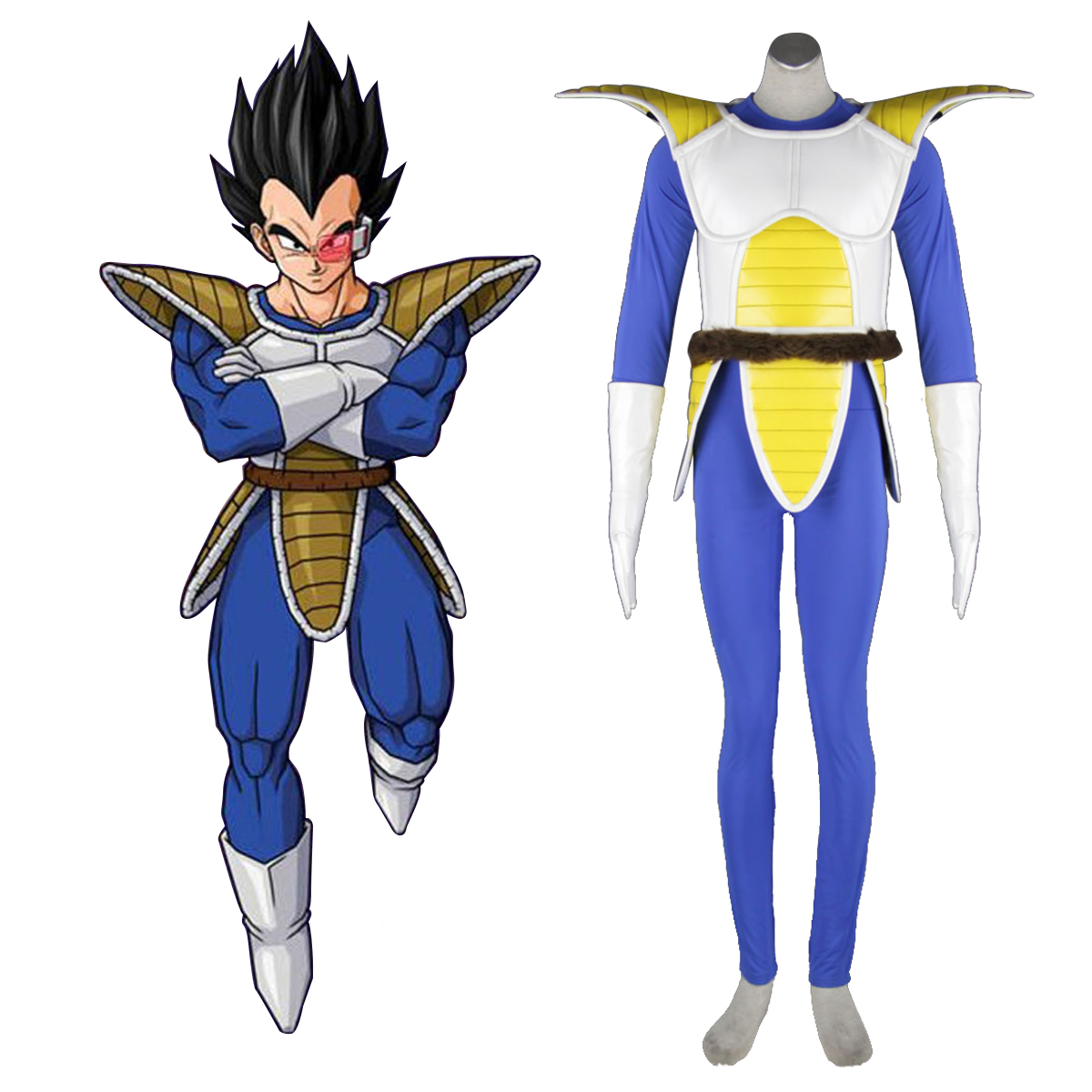 Dragon Ball Vegeta 1 Anime Cosplay Costumes Outfit