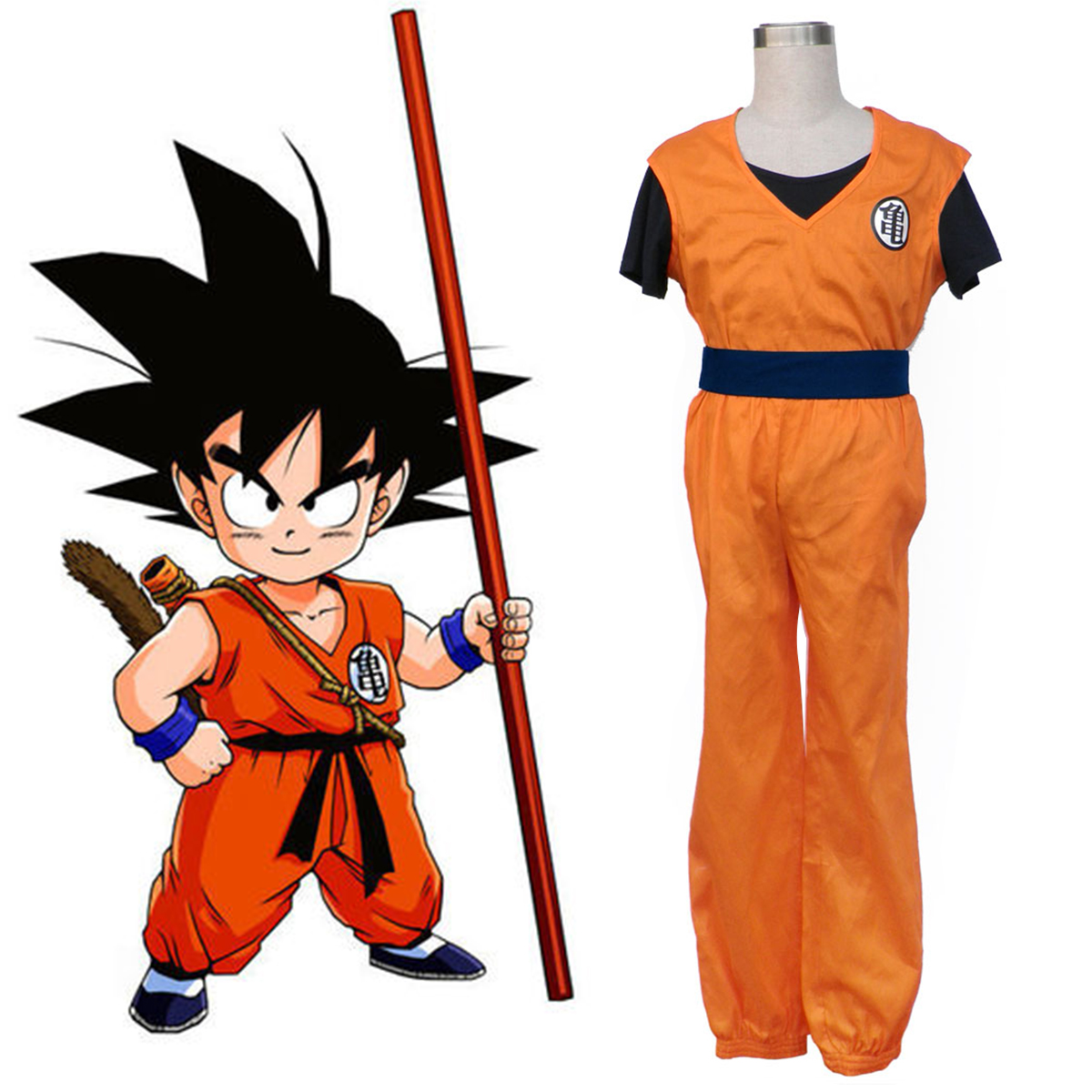 Dragon Ball Son Goku 1 Anime Cosplay Costumes Outfit