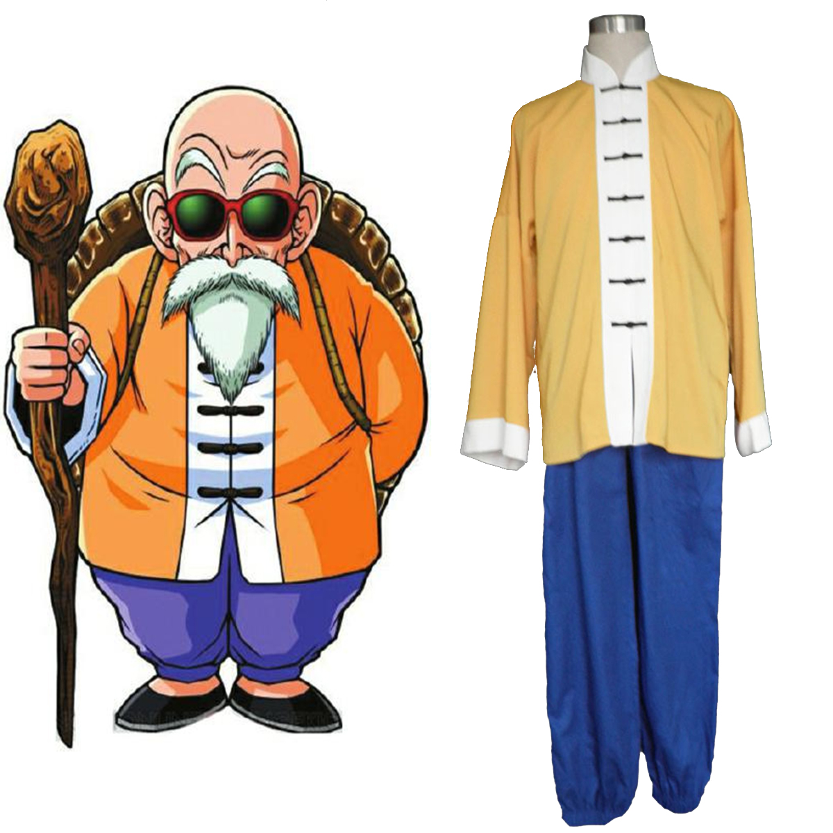 Dragon Ball Kame-Sennin 1 Anime Cosplay Costumes Outfit