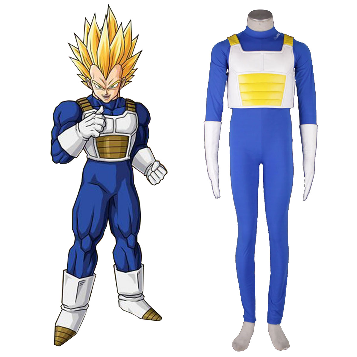 Dragon Ball Vegeta 3 Anime Cosplay Costumes Outfit