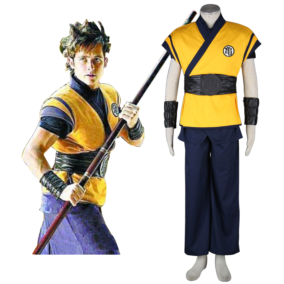 Dragon Ball Son Goku 3 Anime Cosplay Costumes Outfit