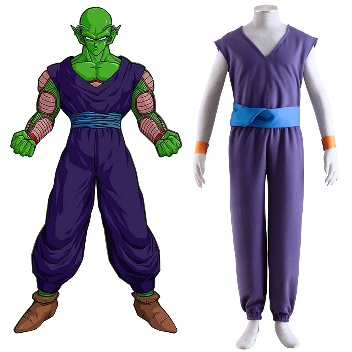 Dragon Ball Piccolo 1 Purple Anime Cosplay Costumes Outfit