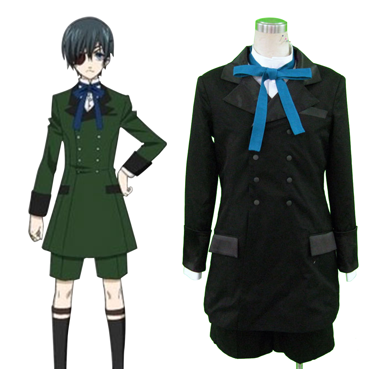 Black Butler Ciel Phantomhive 4 Anime Cosplay Costumes Outfit