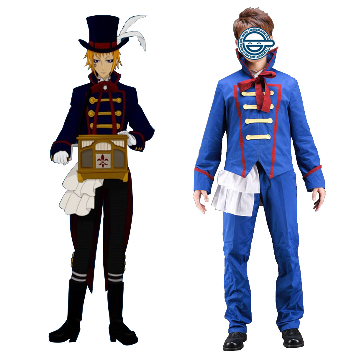 Black Butler Drocell Caines 1 Anime Cosplay Costumes Outfit