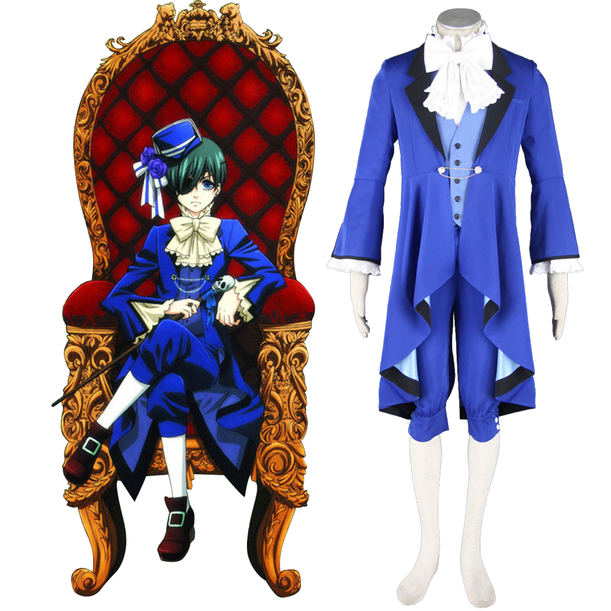 Black Butler Ciel Phantomhive 18 Anime Cosplay Costumes Outfit