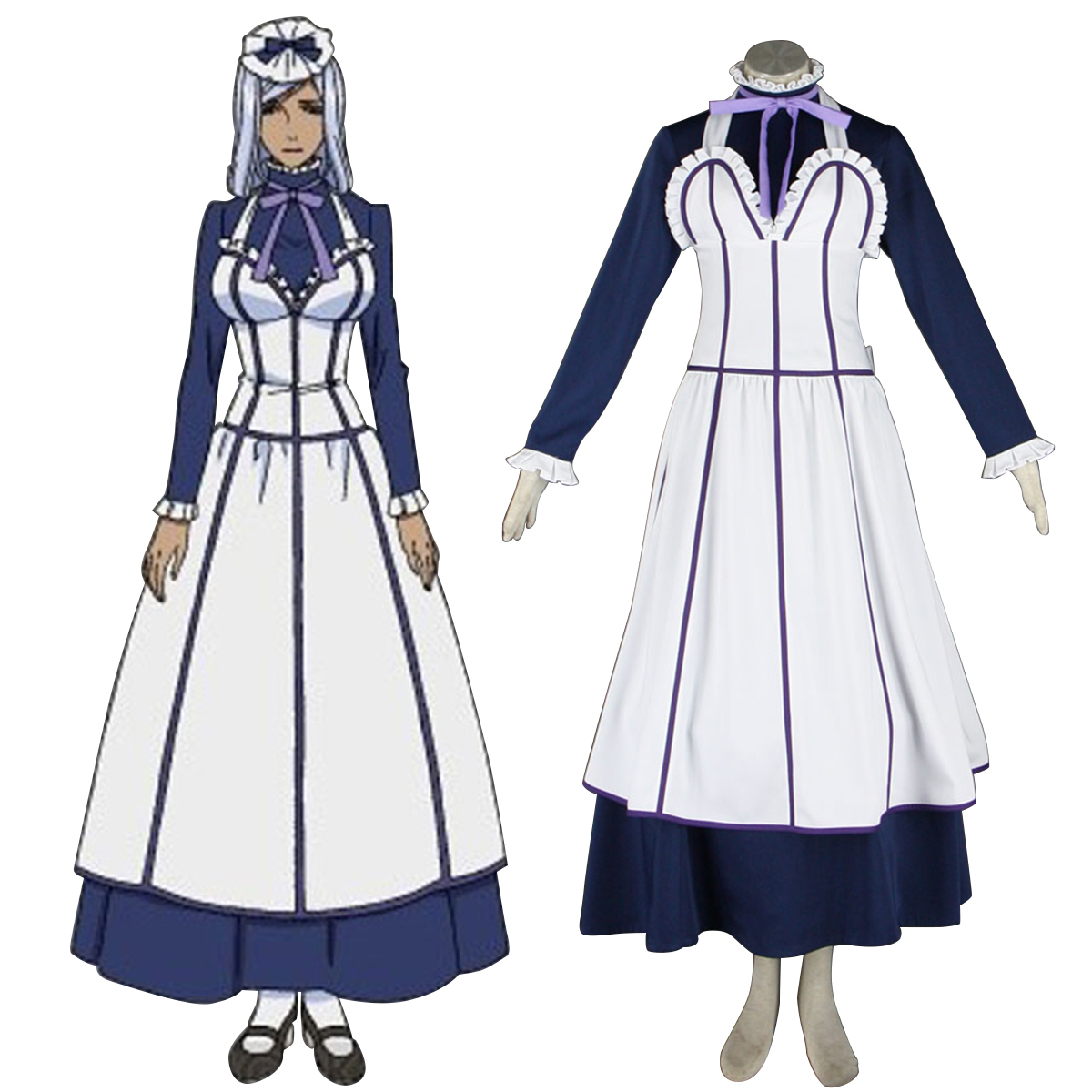 Black Butler Hannah Annafellows 1 Maid Anime Cosplay Costumes Outfit
