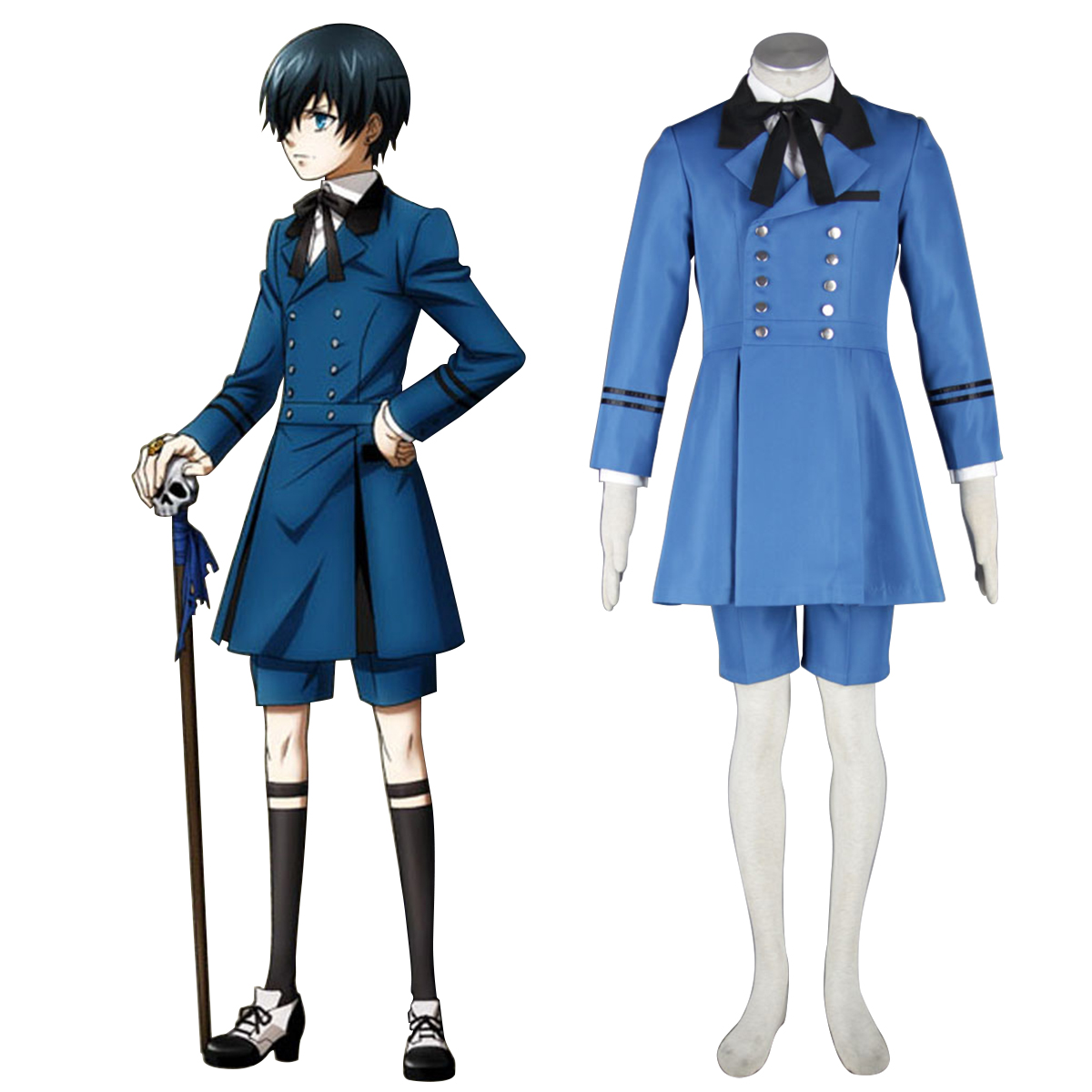 Black Butler Ciel Phantomhive 5 Anime Cosplay Costumes Outfit