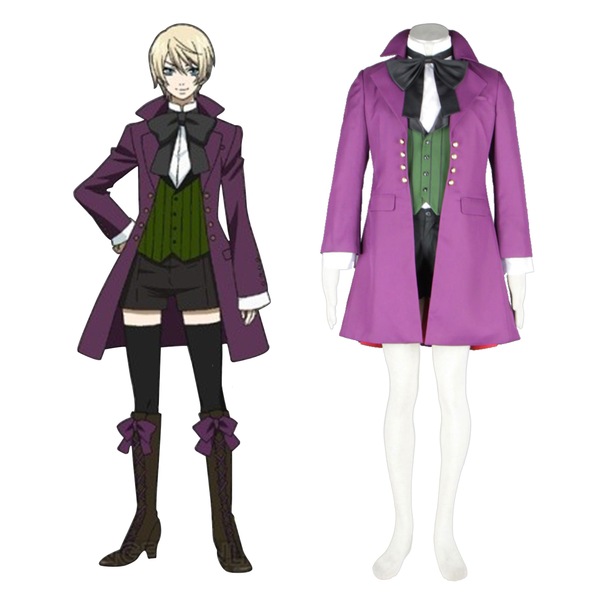 Black Butler Alois Trancy 1 Anime Cosplay Costumes Outfit