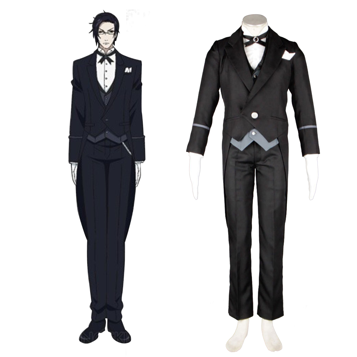 Black Butler Claude Faustus 1 Anime Cosplay Costumes Outfit