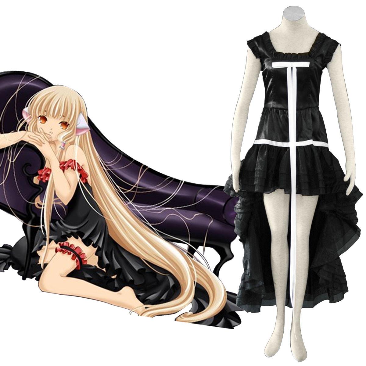Chobits Chi 1 Anime Cosplay Costumes Outfit