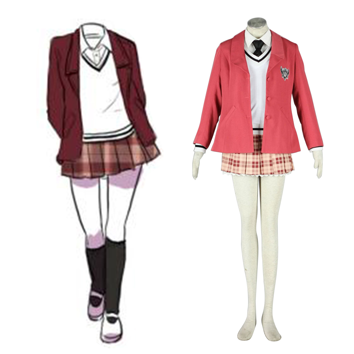Axis Powers Hetalia Winter Female School Uniform 1 Anime Cosplay Costumes Outfit
