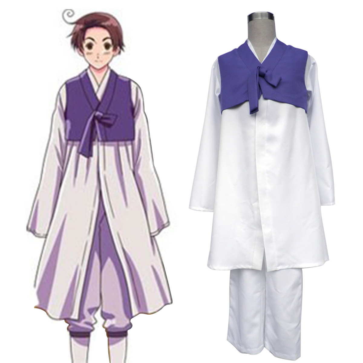 Axis Powers Hetalia South Korea 1 Anime Cosplay Costumes Outfit