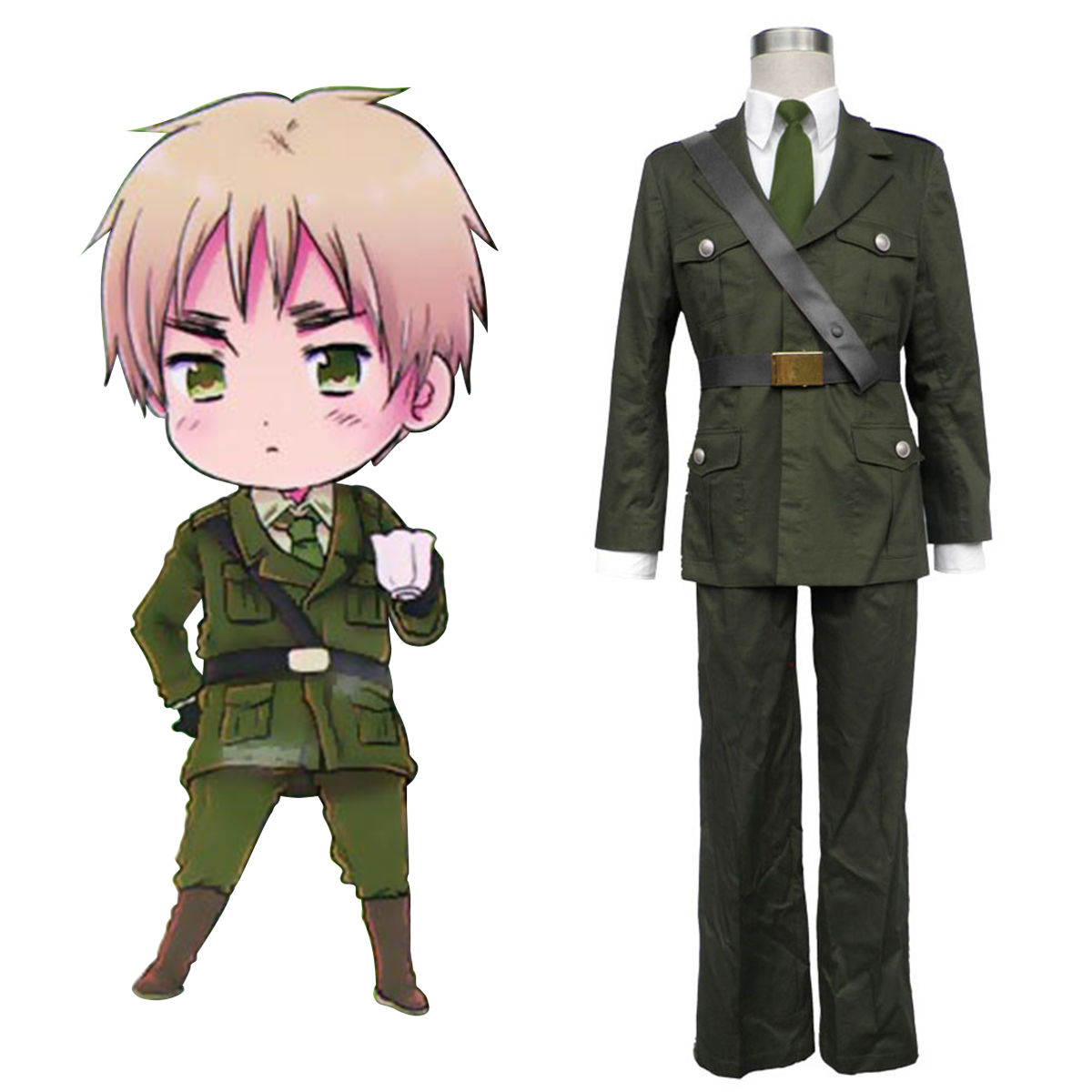 Axis Powers Hetalia Arthur Kirkland Britain 1 Anime Cosplay Costumes Outfit