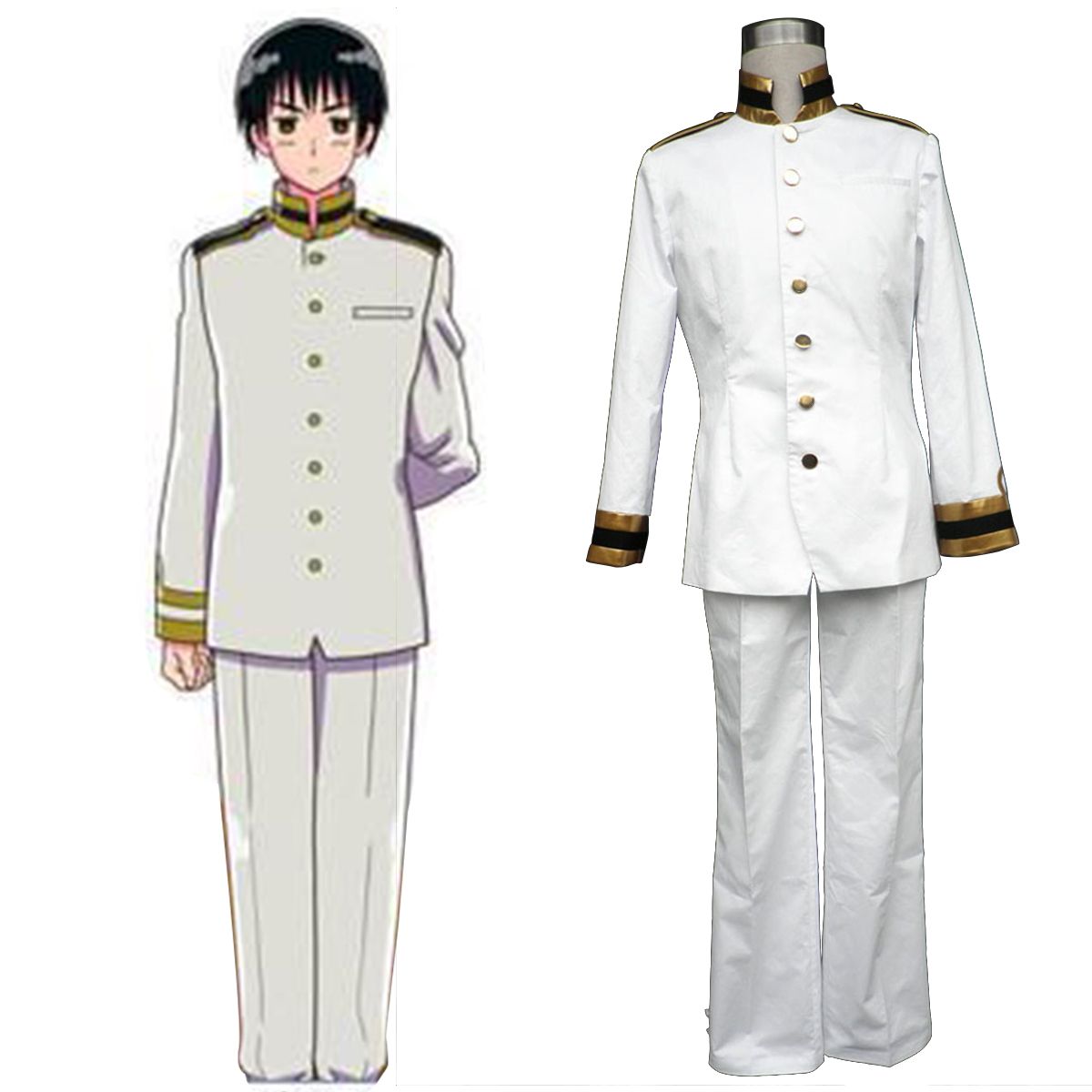 Axis Powers Hetalia Japan Honda Kiku 1 Anime Cosplay Costumes Outfit
