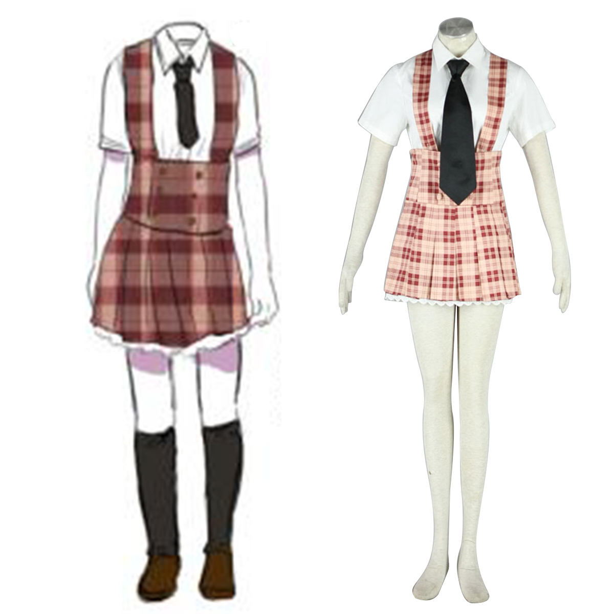 Axis Powers Hetalia Summer Female Uniform 2 Anime Cosplay Costumes Outfit