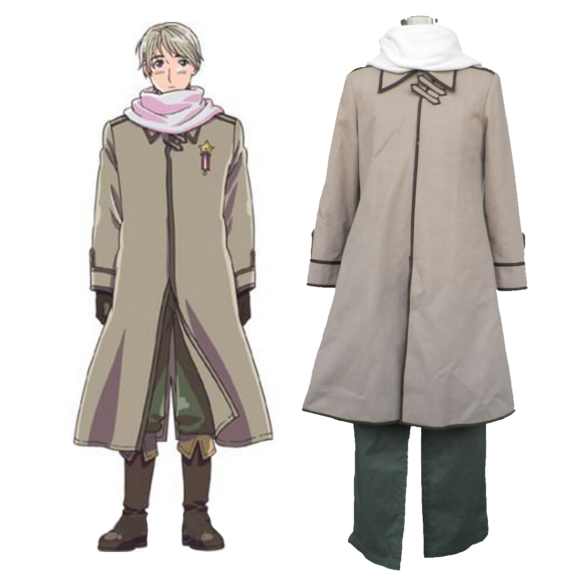 Axis Powers Hetalia APH Russia Ivan Braginski 1 Anime Cosplay Costumes Outfit