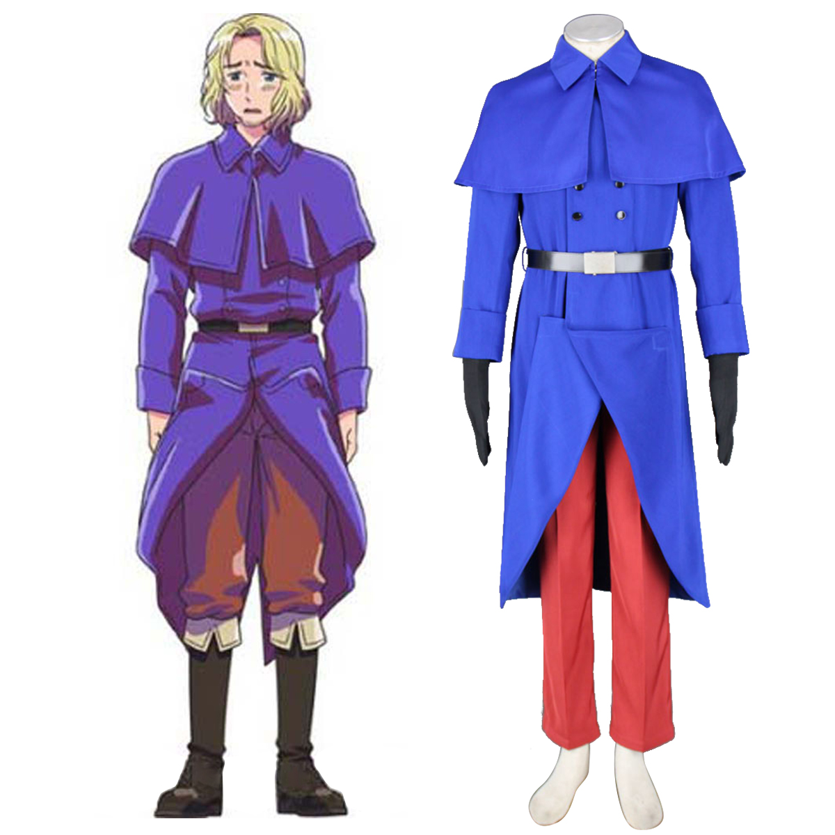 Axis Powers Hetalia France Francis Bonnefeuille 1 Anime Cosplay Costumes Outfit