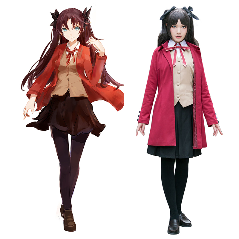 The Holy Grail War Tohsaka Rin 5 Anime Cosplay Costumes Outfit