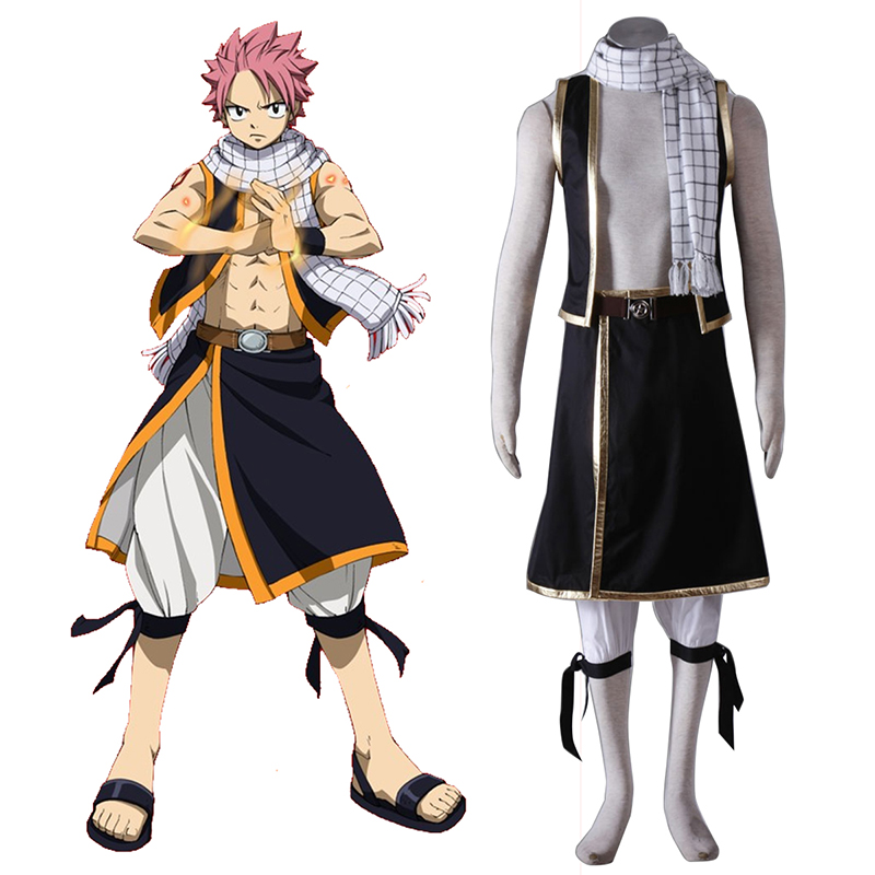 Fairy Tail Natsu Dragneel 1 Anime Cosplay Costumes Outfit