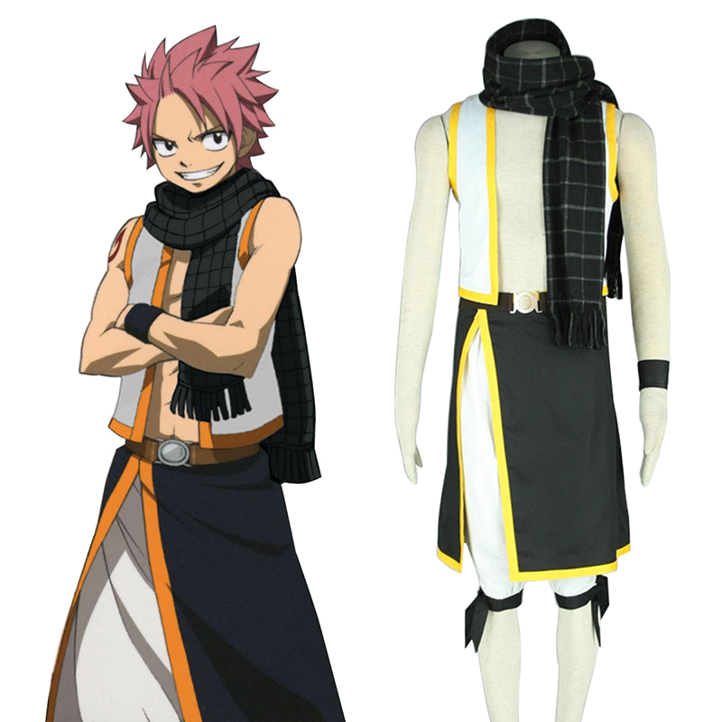 Fairy Tail Natsu Dragneel 2 Anime Cosplay Costumes Outfit