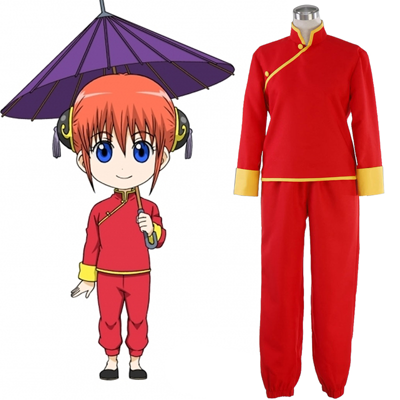 Gin Tama Kagura 5 Anime Cosplay Costumes Outfit