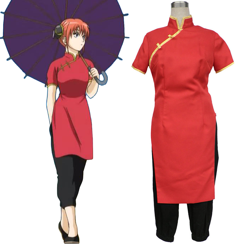 Gin Tama Kagura 7 Anime Cosplay Costumes Outfit