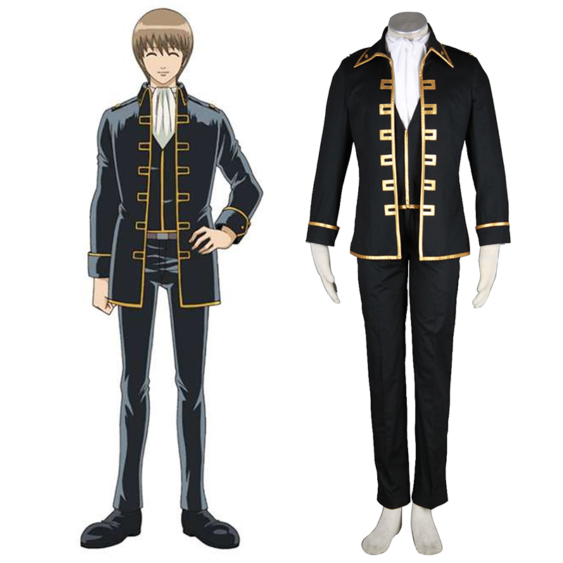 Gintama Shinsengumi Captain Anime Cosplay Costumes Outfit