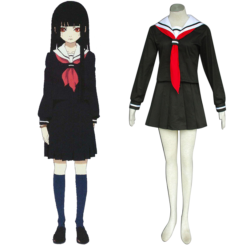 Hell Girl Enma Ai 2 Sailor Anime Cosplay Costumes Outfit