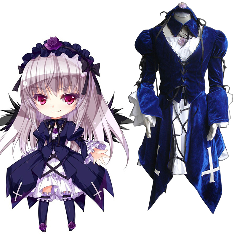 Rozen Maiden Suigintou 1 Anime Cosplay Costumes Outfit
