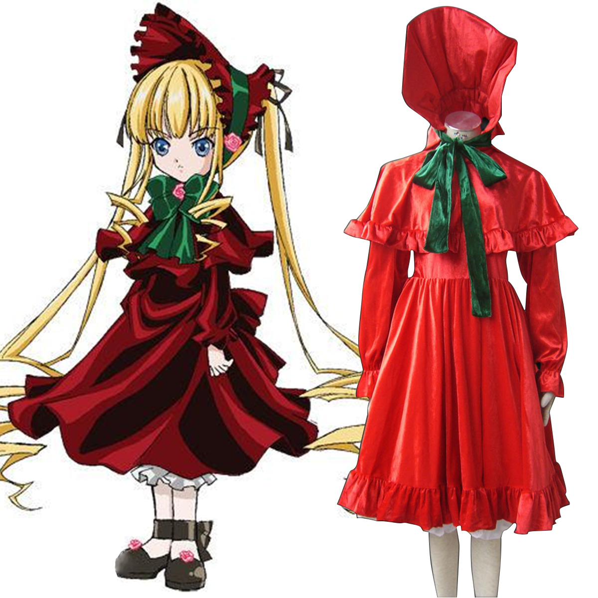 Halloween Anime Rozen Maiden shinku cosplay costume