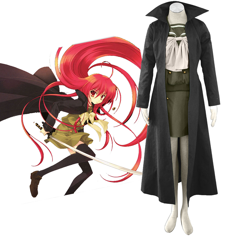 Shakugan no Shana Shana 3 Cloak Anime Cosplay Costumes Outfit