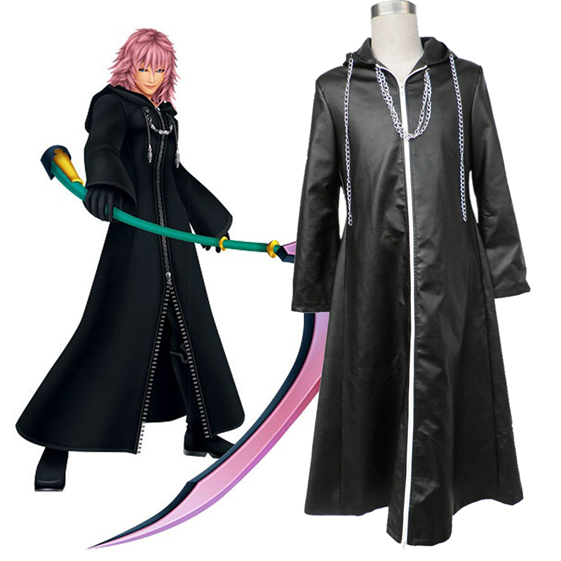 Kingdom Hearts Organization XIII Marluxia 2 Anime Cosplay Costumes Outfit