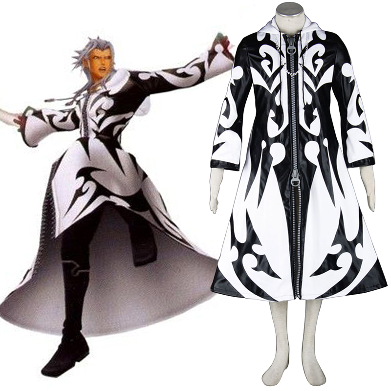 Kingdom Hearts Xemnas 1 Anime Cosplay Costumes Outfit