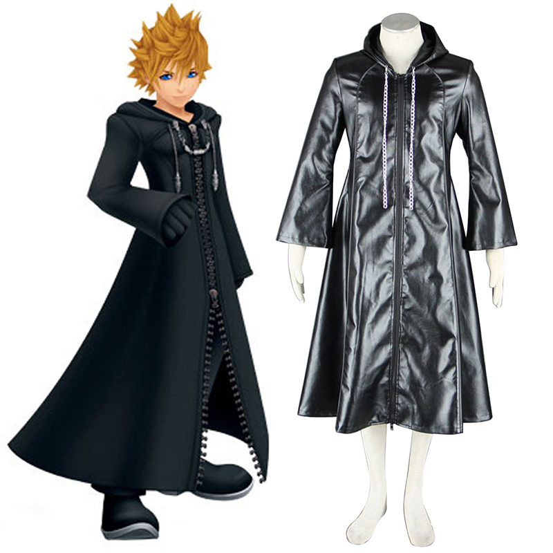 Kingdom Hearts Organization XIII 3 Roxas Anime Cosplay Costumes Outfit