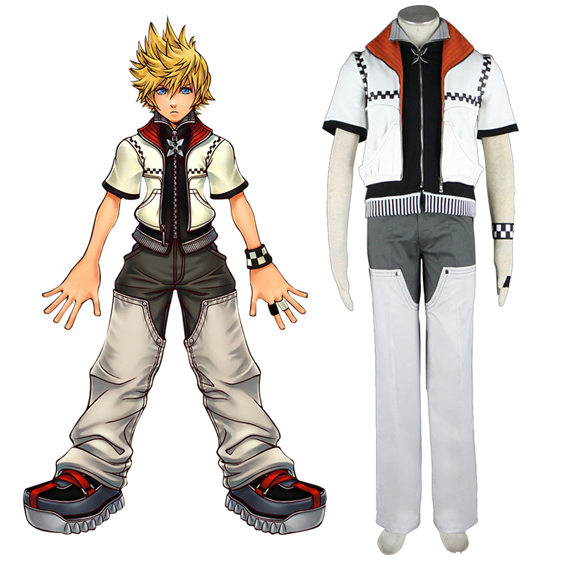 Kingdom Hearts Roxas 1 Anime Cosplay Costumes Outfit