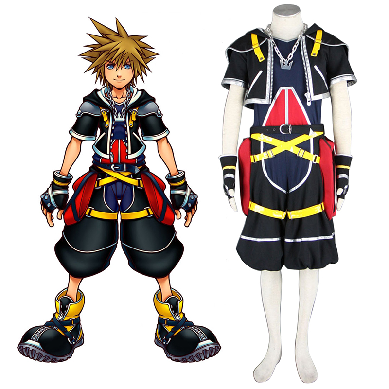 Kingdom Hearts Sora 1 Anime Cosplay Costumes Outfit
