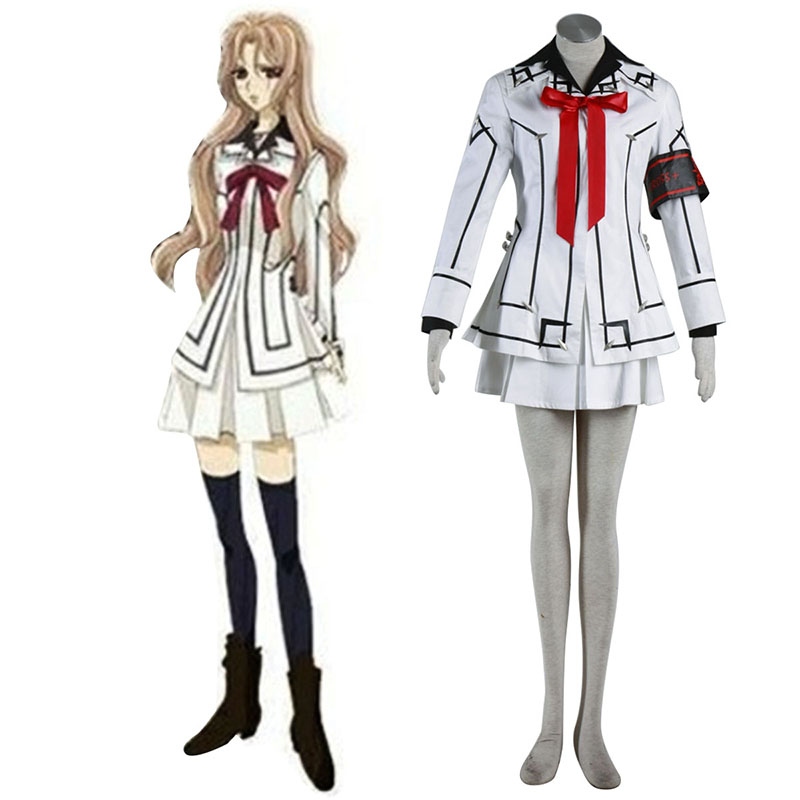Vampire Knight Night Class White Female School Uniform Anime Cosplay Costumes Outfit