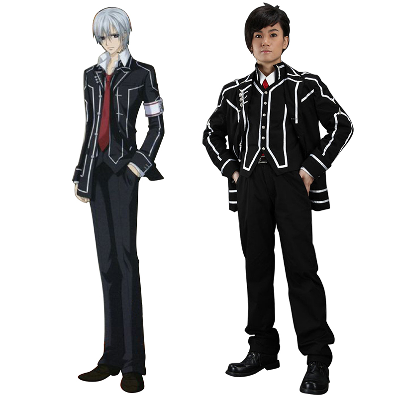 Vampire Knight Day Class Black Male School Uniform Anime Cosplay Costumes Outfit